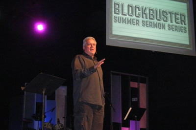 Michael speaking at Grace Point Church in San Antonio, May 2009
