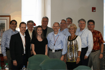 Michael and Jim McBride with the B&H Team
